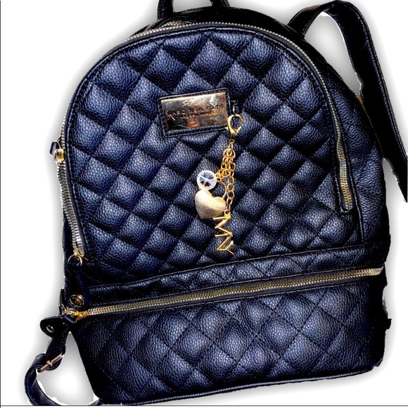 Andrew Marc Black Quilted Backpack Purse